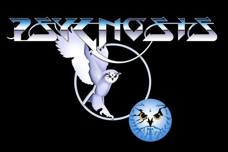 The Psynosis company logo, created by the legendary fantasy artist Roger Dean.