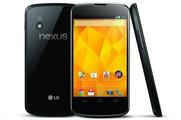 The Google Nexus 4 smartphone.