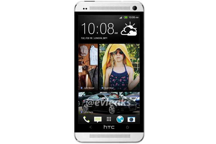 A leaked image of what is rumoured to be the HTC One Android phone (Image credit: @evleaks)