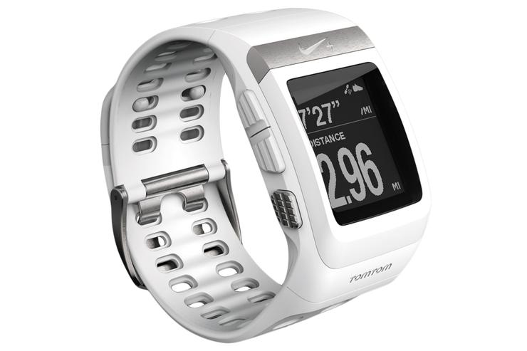 The silver/white variant of the Nike+ Sportwatch GPS.