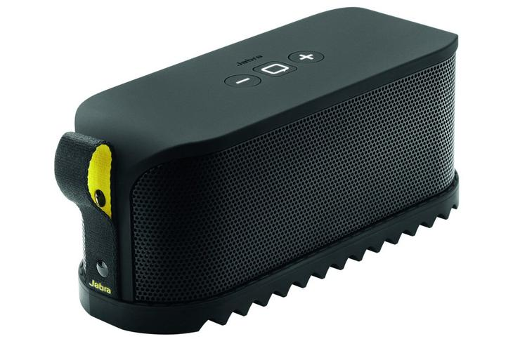 The Jabra Solemate Bluetooth speaker.