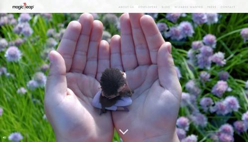 Magic Leap's home page, pictured June 2, 2015.