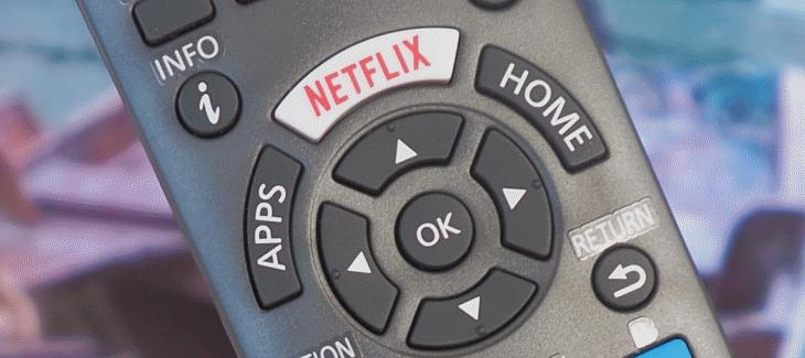 The remote control for Panasonic's smart televisions has a button dedicated to Netflix