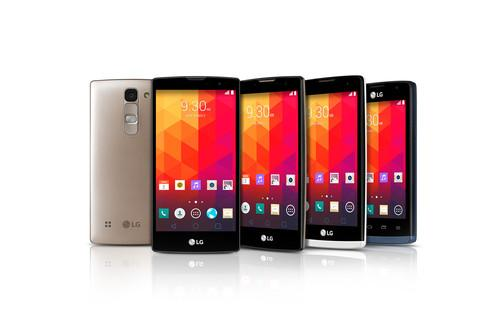 LG's new range of affordable smartphones have screen sizes that measure between 4 and 5 inches.