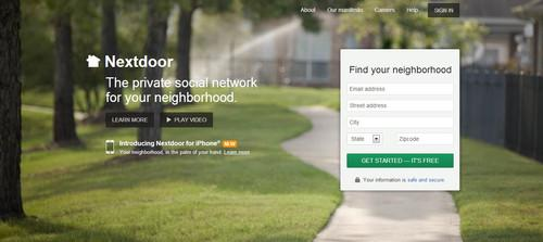 You can sign up for Nextdoor on your desktop or the iOS app