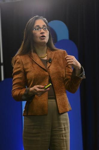 Cisco Chief Strategy and Technology Officer Padmasree Warrior spoke on Wednesday at a press event at Cisco.