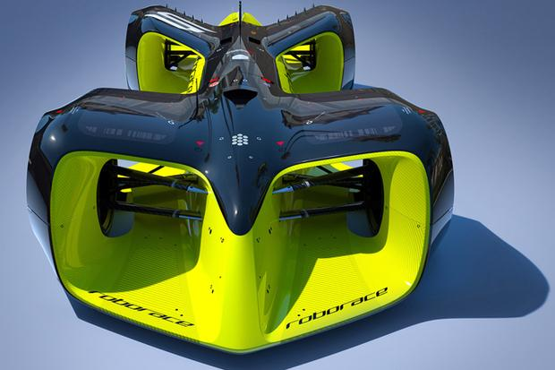 The Robocar is Roborace's first driverless racing vehicle. Credit: Roborace