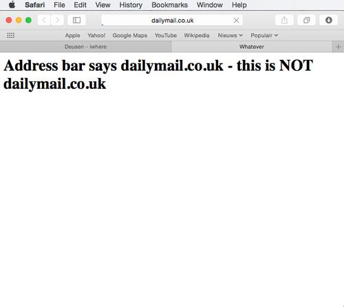 Bug allows attackers to spoof the URL shown by Safari