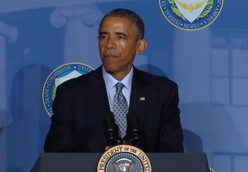U.S. President Barack Obama announces new data privacy initiatives during a speech at the Federal Trade Commission.