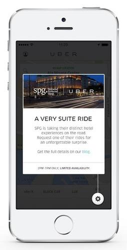 A new partnership between Uber and Starwood Hotels will let hotel customers earn rewards through the Uber app.