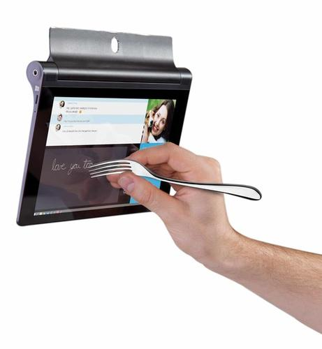 Anything conductive larger than 1mm can be used to write on the new Yoga Tablet 2.