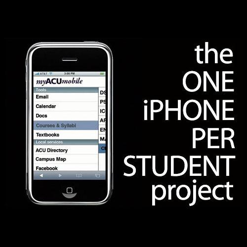 "The ""one iPhone per student"" project"