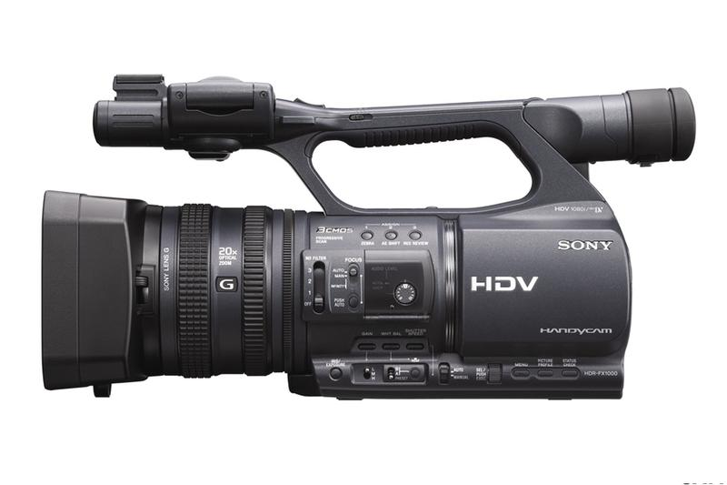 Sony unveils new 'prosumer' HDV camcorder: the HDR-FX1000