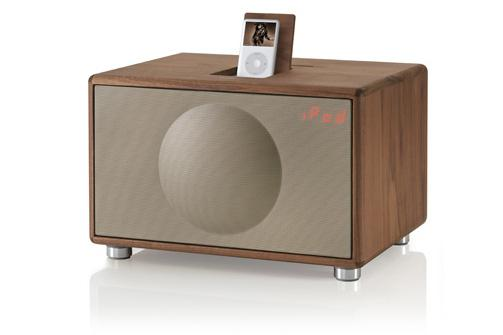 The Geneva Model L Walnut: a wooden iPod dock!