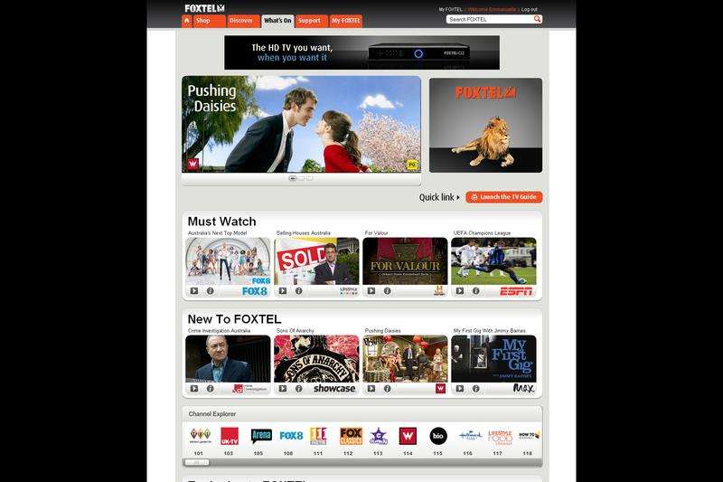 A look at the new Foxtel.com.au