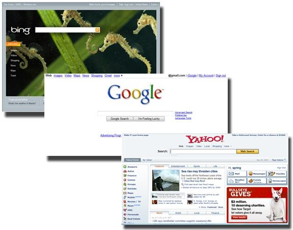 Bing vs. Google vs. Yahoo: feature smackdown