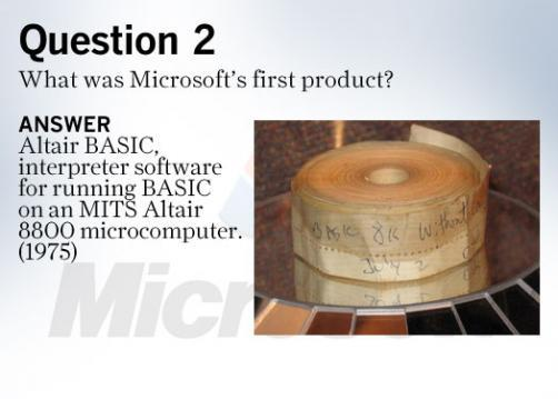 Quiz: What were the first products from today's biggest tech companies?