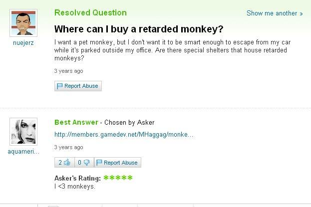 The worst questions on Yahoo! Answers