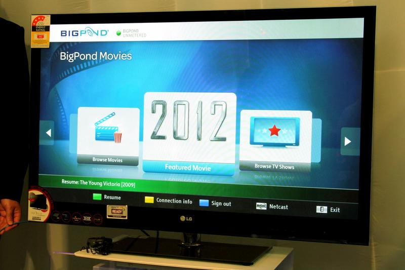 First look: BigPond Movies VOD service on LG's TVs
