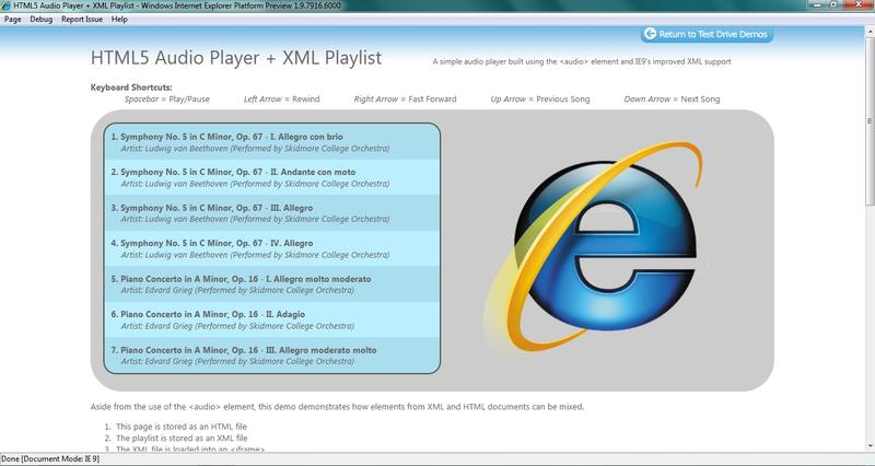 Microsoft previews Internet Explorer 9
