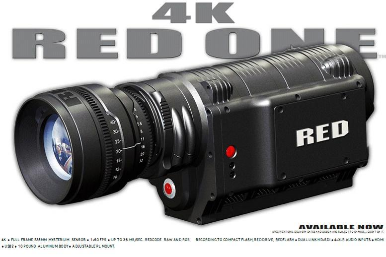RED professional camera range