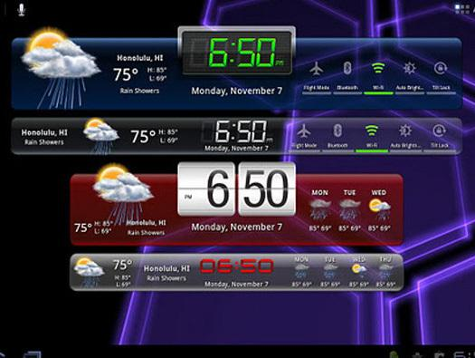 In Pictures: 11 awesome Android  tablet  widgets