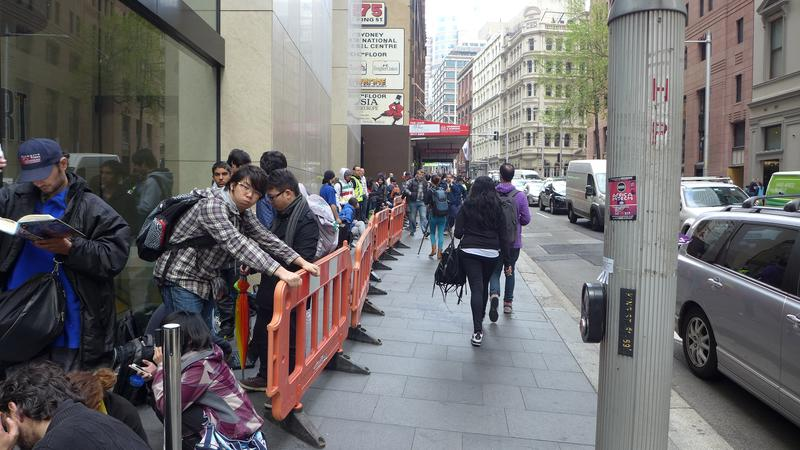 This was the queue for the Apple iPhone 5