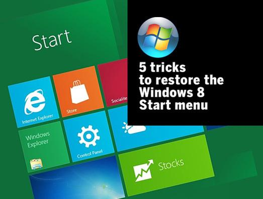 In Pictures: 5 tricks to restore the Windows 8 Start menu