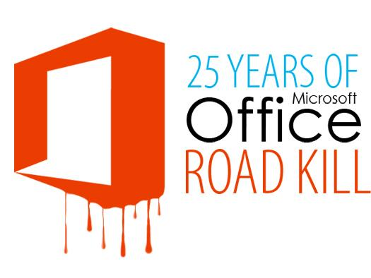 In Pictures: 25 years of Microsoft Office roadkill