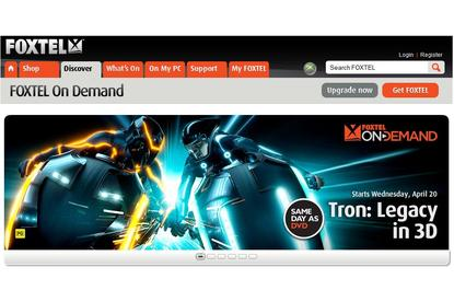 The Foxtel On Demand Web site.