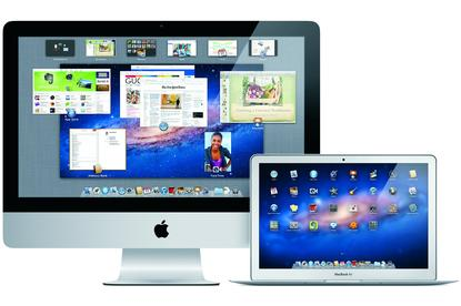 A new iMac and new MacBook Air with Apple's Mac OS X Lion.