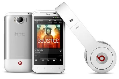 The HTC Sensation XL, with included Beats headphones