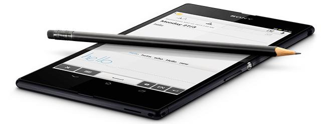 Sony says the Xperia Z Ultra's handwriting recognition feature will work with any regular pencil or pen.