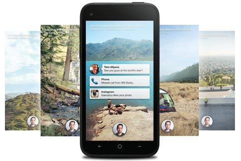 Facebook Home puts Facebook front and center on the First.