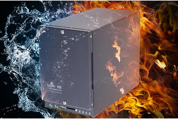 The water- and fire-proof ioSafe N2.