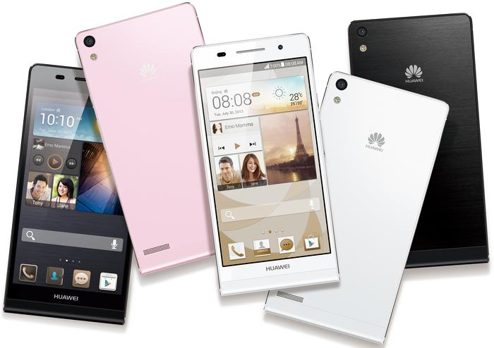 The Huawei Ascend P6 will be available in black, white and pink colour variants.