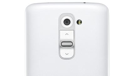 LG says the buttons on the back means the phone will be less awkward to hold and use.