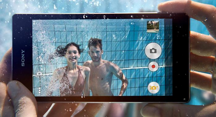 The Xperia Z1 will handle fresh water at up to 1.5 metres for 30 minutes but won't guard against salt water, liquid chemicals, sand, or mud.