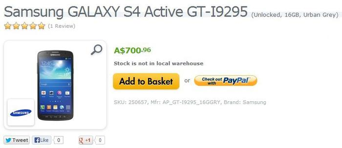 Expansys also sells the Galaxy S4 Active.