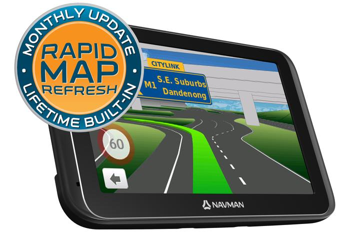The Navman MY450LMT comes standard with Rapid Map Refresh, providing monthly map updates.