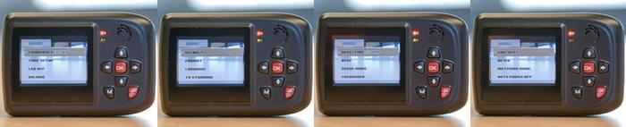 The four panels for Setup, covering options for both video and photo exposure, recording modes and orientation.