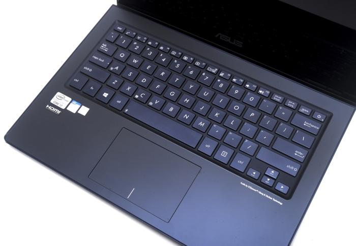 The Zenbook's keyboard layout.