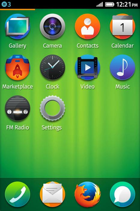 Homescreen icons on Firefox OS