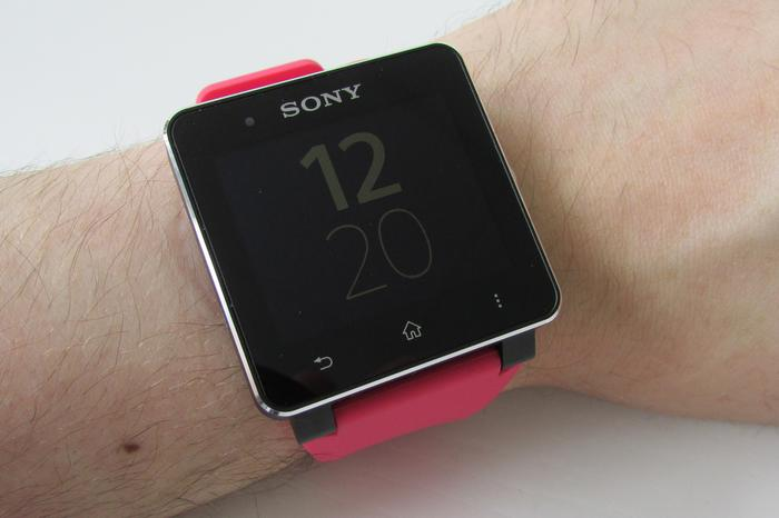 Digital watchface, illuminated by ambient light (no backlight).