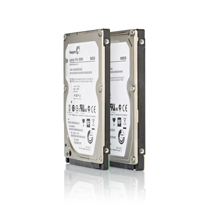Two notebook drives are available: the Seagate SSHD Laptop, and the Seagate SSHD Laptop Thin.