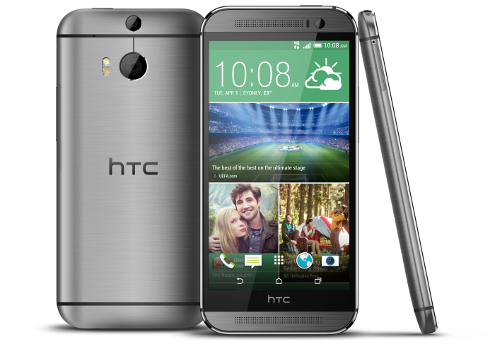 The premium material adds just 17 grams to the HTC M8. It now weighs 160 grams in total