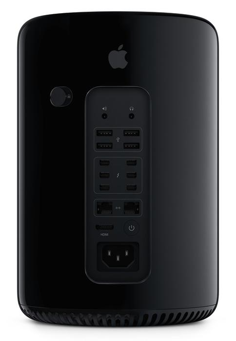 The back of the new Apple Mac Pro.