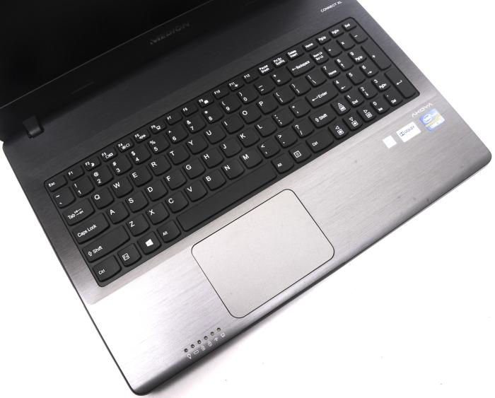 The keyboard is comfortable to type on and the touchpad felt smooth and responsive.