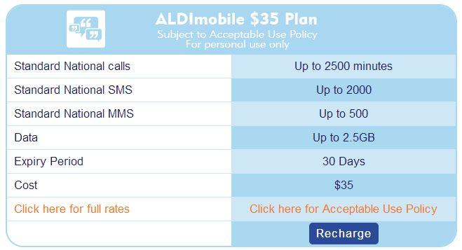 Aldi Mobile's $35 plan is no longer