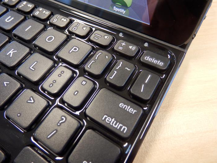 The keys on the Ultrathin Keyboard mini are small and pretty cramped.